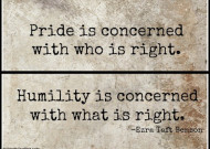 The value of humility
