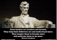 Lincoln : A lesson in Leadership