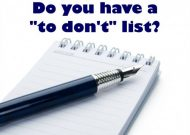 To Don't Lists !
